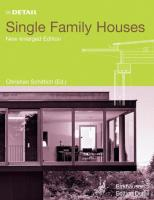 In detail: single family houses. Edition Detail, Birkhäuser, 2005