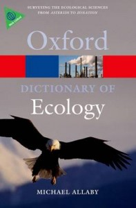 Dictionary of Ecology 4th Revised edition