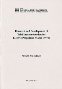 research and development of trial instrumentation