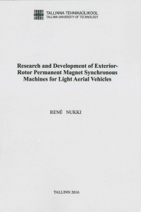 Research and development of exterior-rotor permanent magnet synchronous machines for light aerial vehicles